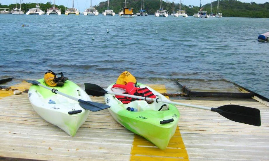 Solo Steady Kayak for Rent in Puerto Lindo, Panama
