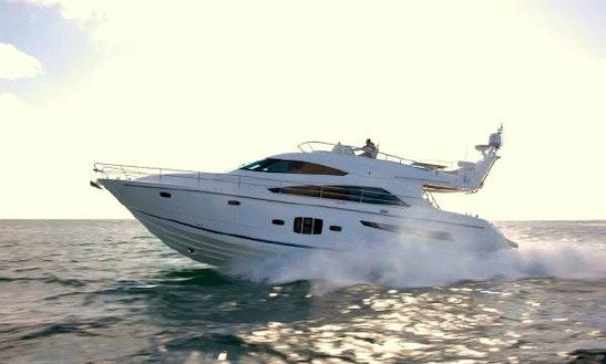 55' Power Mega Yacht Fairline Squadron 55 Charter In Portals Nous · Calvia, Spain