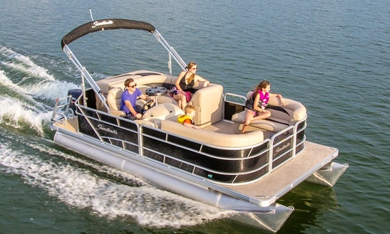17' Sweetwater Pontoon Rental In Traverse City, Michigan