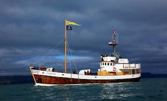 "Charter a 93ft ""Gardar"" Trawler in Húsavík, Iceland"