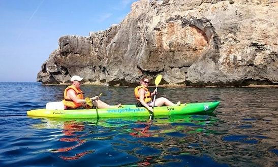 Double Kayak Hire & Excursions In Playa Sant Tomas
