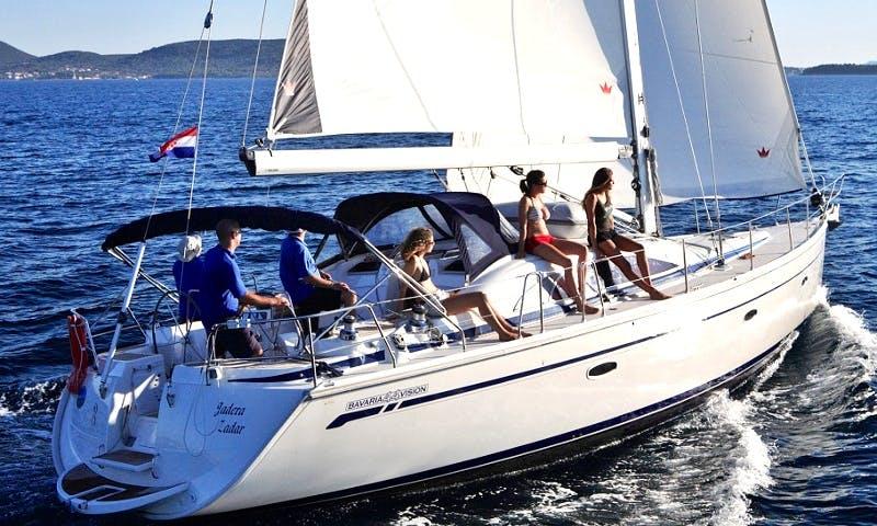 Charter a 10 person Bavaria Sailboat in Mataro, Spain!