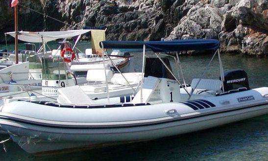 20' Rib Charter For 10 In Castro Marina, Italy