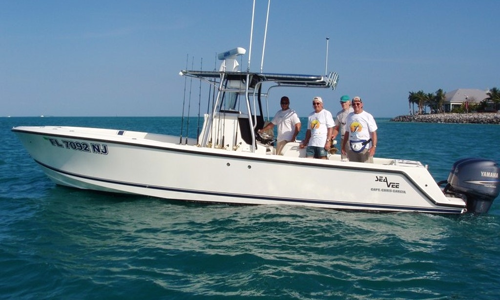 Fishing charter on 29ft outcast boat in key west for Key west charter fishing