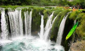 Kayaking on the River Mrežnica, Croatia