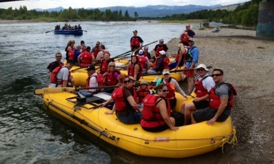 Water Rafting Trips In The Snake River, Wyoming
