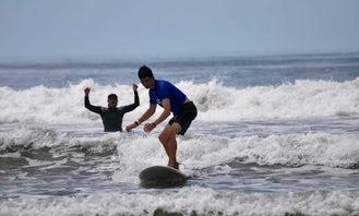 Surf Lesson In Sámara