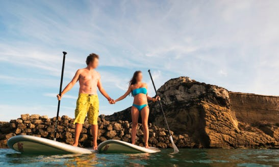 Stand Up Paddle Surfing In Tarifa