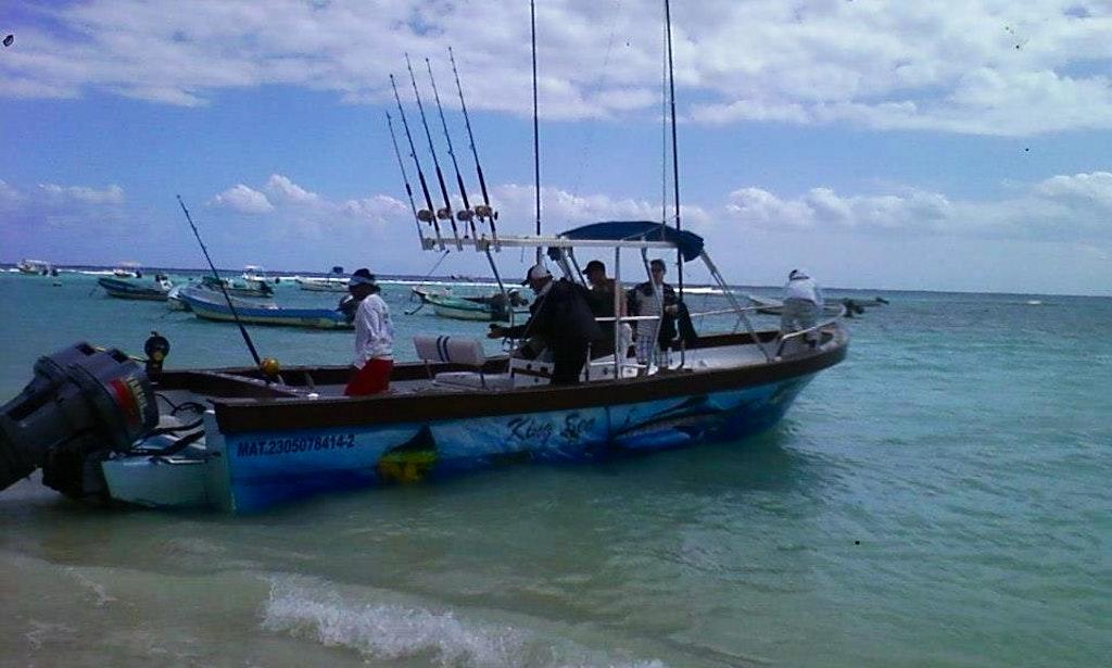26 39 fishing yacht rental in playa del carmen mexico for Playa del carmen fishing charters