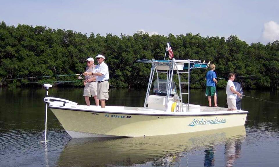 "Fishing Charter On 24ft ""Afishionado"" Sheaffer Center Console in Tampa, Florida"