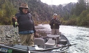 Guided Fly Fishing Boat In Redding