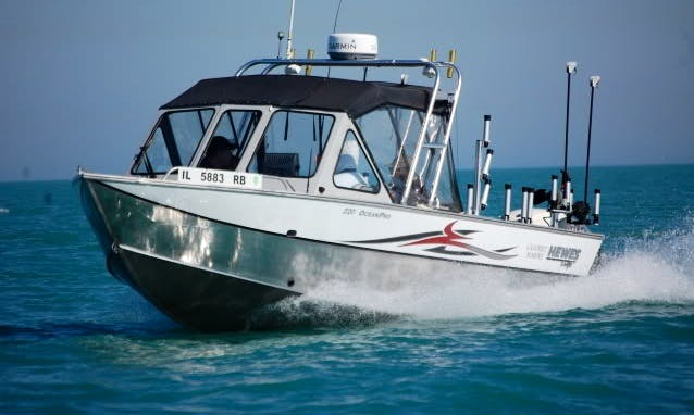 Guided Fishing Trips on 22' Boulton Pro Sea Skiff in Lake Tahoe