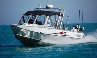 Guided Fishing Trips on 22' Boulton Pro Sea Skiff in Lake Tahoe
