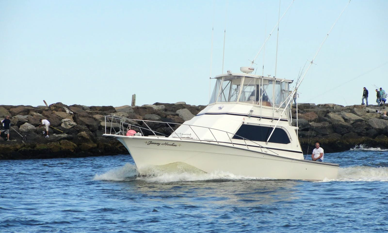 43ft Sport Fisherman Boat Charter in Point Pleasant Beach, New Jersey