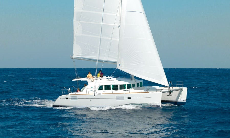 "44ft ""Zippi"" Lagoon Sailing Catamaran Boat Charter in Barcelona, Spain"