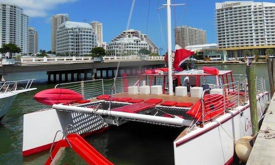 Charter 40' Catamaran Day Time Boat In Miami, Fl