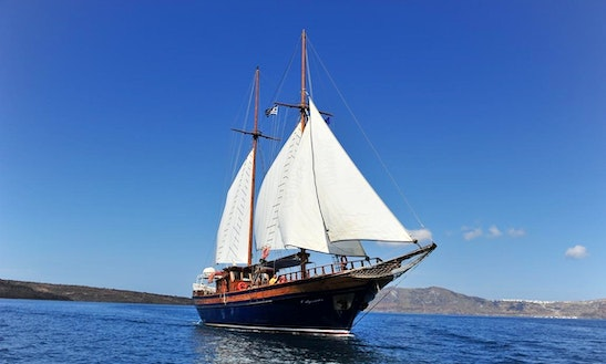 Tailor Made Private Cruise On 88' Sailing Gulet  In Fira, Greece