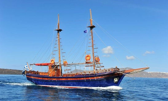 Volcano And Hot Springs Excursion For The Whole Family Aboard 49' Sailing Gulet In Fira, Greece