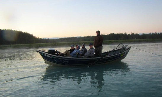 Dirft Boat Fishing In Soldotna, Alaska