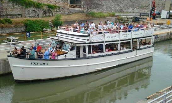 """2-Hour Canal Cruises on Erie Canal """"Lockview V"""" in Lockport, New York"""