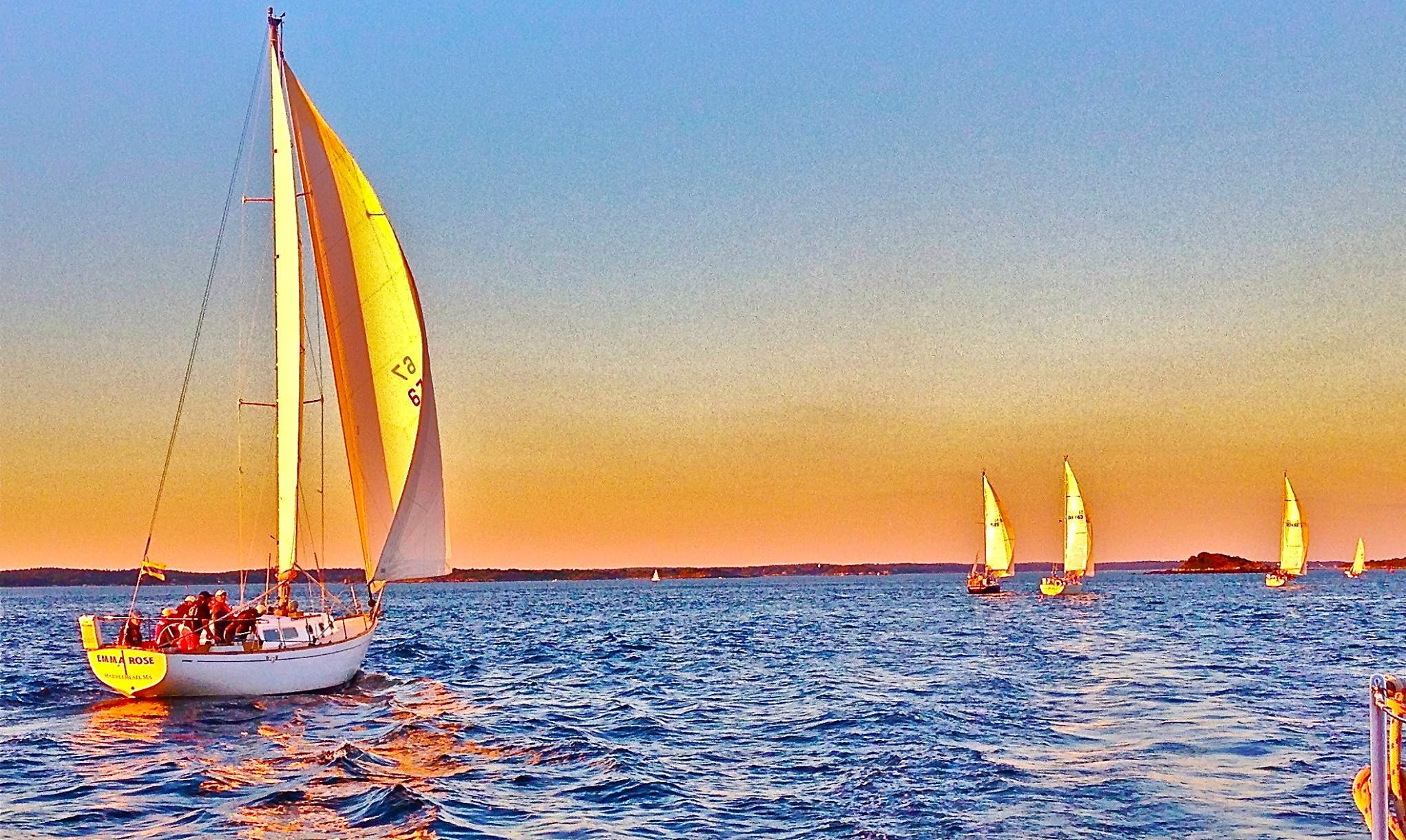 """Sailing Charters On 36ft """"Emma Rose"""" Sailboat In Winthrop, Massachusetts Listed Marblehead but traveling to Boston, you will be able to Book from both Locations"""