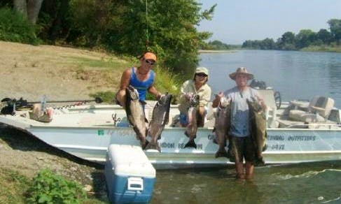 Fun Day on the Water Fishing on a on 21' Boat in West Sacramento, California