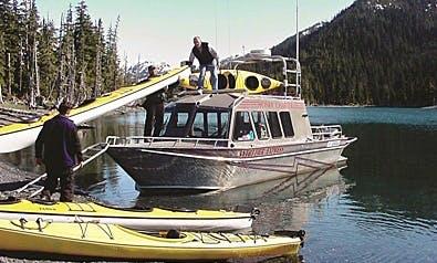 34ft Power Catamaran Boat Charter in Whittier, Alaska