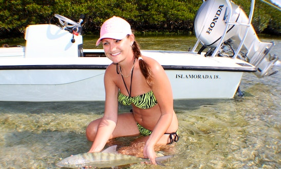 Fishing Charter On 18ft Chittum Skiff In Key Biscayne, Florida