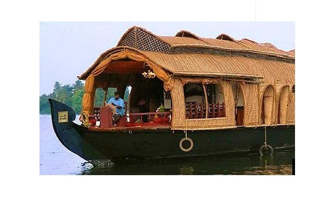 A Beautiful 4-Person Houseboat for Rent in Alappuzha, Kerala