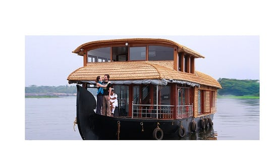 Cruise The Kerala Backwater Waterways Aboard A Houseboat For 4 People