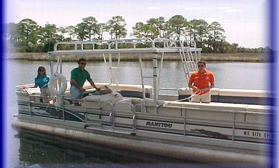 24' Pontoon Charter In Crystal River, Florida