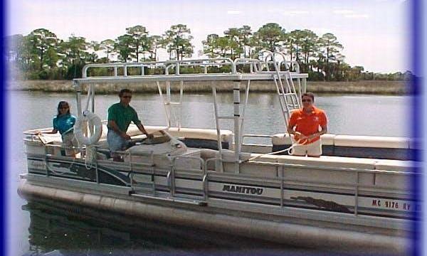 24' Pontoon Charter in Crystal River, Florida