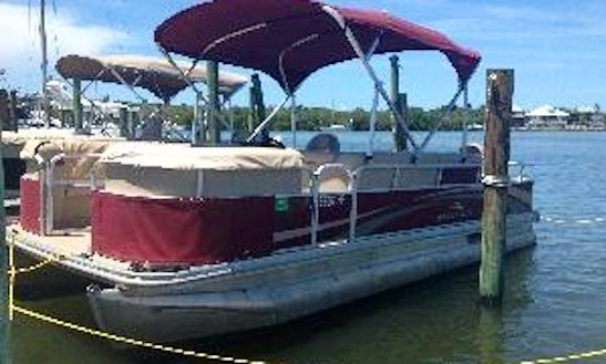 Enjoy Fort Myers Beach, Florida On Small Pontoon