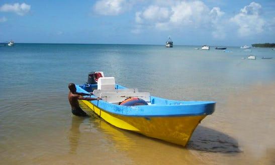 Dive Boat On Corn Island