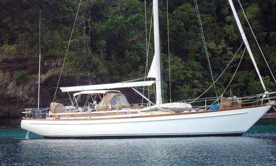 55' Sailing Sloop In Dixon Cove