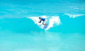 Private Surfing Lesson in Quintana Roo, Mexico
