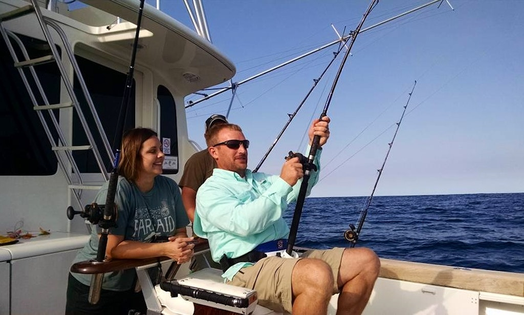 Fishing charter on 56 39 ocean sportfisher in virginia beach for Virginia beach fishing charters