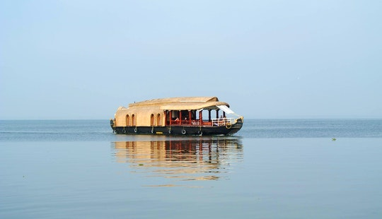 Hit The Water In Style With A Two Bedroom Houseboat Charter In Alappuzha, India For 4 People