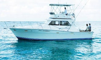 """35' Sport Fisherman """"Delmy"""" Fishing Charter in Isla Mujeres, Mexico"""
