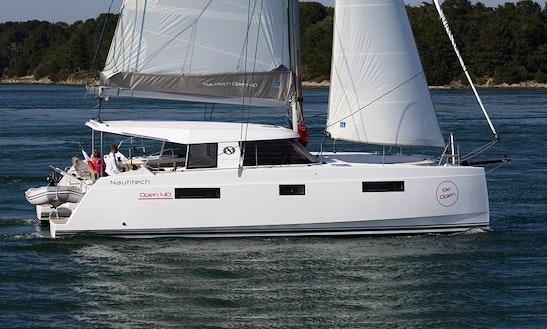 Nautitech Open 40 Sailing Catamaran Charter In Le Marin