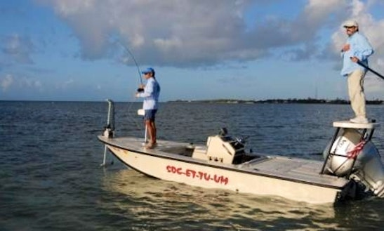Fishing charter on 16 39 center console with captain chris for Duck key fishing charters