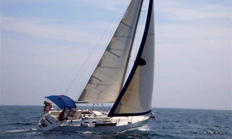 "39' Cruising Monohull ""DAVOS"" Charter in Cala Galdana, Spain"