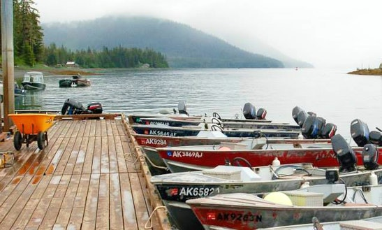 17' Bass Boat Rental In Petersburg, Alaska