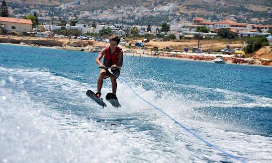 Water Ski Lesson In Greece