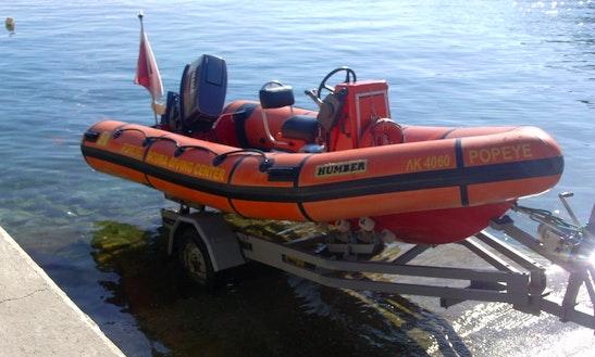 Dive Boat In Greece