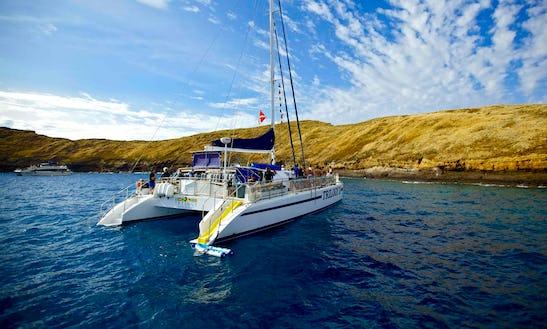 Charter 64ft 'trilogy Ii' Sailing Catamaran In Lahaina, Hawaii