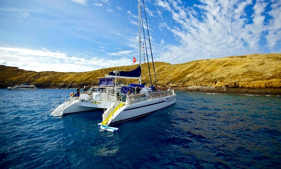 Charter 64ft 'trilogy Ii' Sailing Catamaran In Lahaina, Hawaii