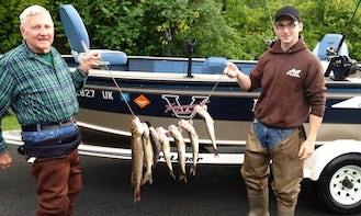 Lund 17' Pro V Bass Boat Fishing Charter in Bleecker, New York