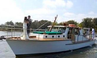 40' Vlaming Luxury Historic Wooden Boat Charter in East Fremantle