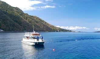 Power Catamaran Charter in Loubiere, Dominica